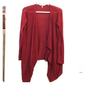 Red boho cotton sweater